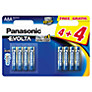 Panasonic Evolta LR03EGE AAA Alkaline Batteries, 8 Pack
