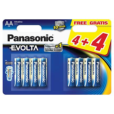 Panasonic Evolta LR6EGE AA Batteries, Pack of 4 + 4 Free