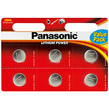Buy Panasonic LR44/2bp Battery, Pack of 6 Online at johnlewis.com