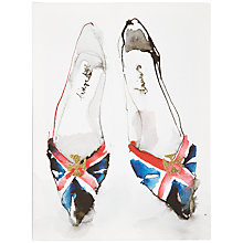 Buy Bridget Davies - Union Jack Shoes Print on Canvas, 30 x 40cm Online at johnlewis.com