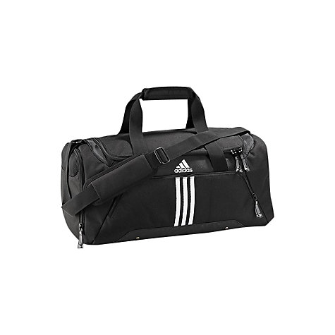 Buy Adidas 3 Stripes Essentials Team Bag, Black/White Online at johnlewis.com