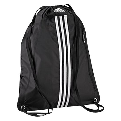 Buy Adidas 3 Stripes Essentials Gymbag, Black/White Online at johnlewis.com