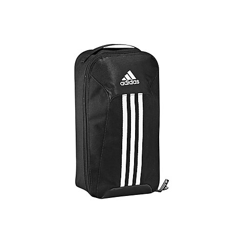 Buy Adidas Essentials 3 Stripe Shoe Bag, Black/White Online at johnlewis.com
