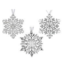Buy John Lewis Mini Snowflake Decoration, Silver, Assorted Online at johnlewis.com
