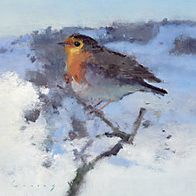 Buy Almanac Robin In Winter Snow Christmas Cards, pack of 10 Online at johnlewis.com