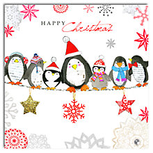 Buy Hammond Gower Penguins In A Line Charity Christmas Cards, Box of 5 Online at johnlewis.com
