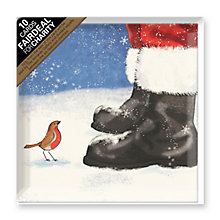 Buy Paper House Santa and Robin Charity Christmas Cards, Pack of 10 Online at johnlewis.com
