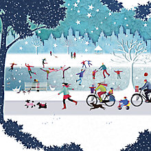 Buy Paperhouse The Skaters Charity Christmas Cards, pack of 6 Online at johnlewis.com