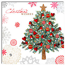 Buy Hammond Gower Tree With Hearts And Robins Christmas Cards, Box of 5 Online at johnlewis.com