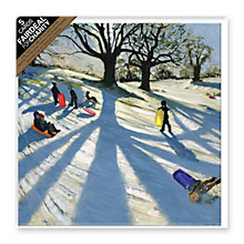 Buy Almanac Wintersnow Sledgers Christmas Cards, pack of 5 Online at johnlewis.com
