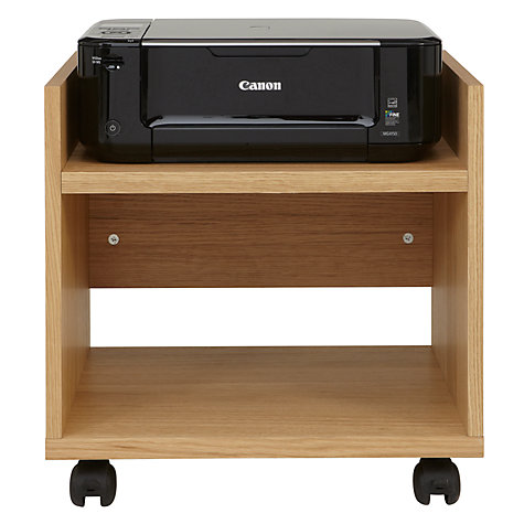 Buy John Lewis Abacus Printer Trolley, Oak Online at johnlewis.com