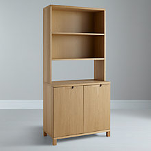 Buy John Lewis Abacus Top Fitting Wide Bookcase Online at johnlewis.com