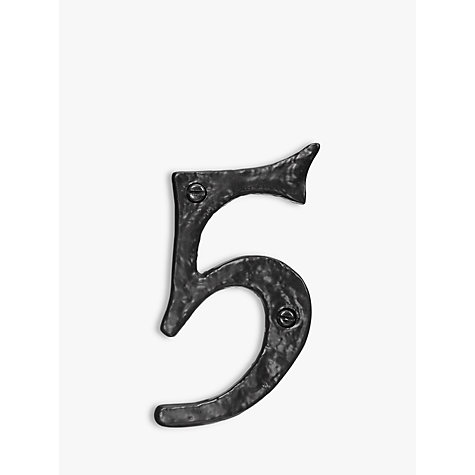 Buy John Lewis Wrought Iron Door 5 Numeral, Black Online at johnlewis.com