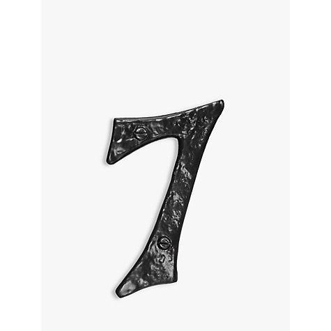 Buy John Lewis Wrought Iron Door 7 Numeral, Black Online at johnlewis.com