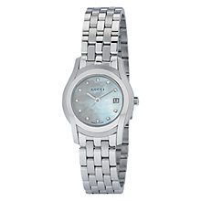 Buy Gucci YA055501 Women's G-Class Round Pale Blue Mother of Diamond Set Dial Bracelet Watch, Silver Online at johnlewis.com