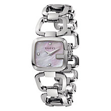 Buy Gucci Women's Mother of Pearl Square Diamond Dial Bracelet Watch Online at johnlewis.com
