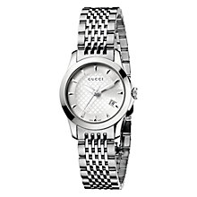 Buy Gucci Women's G-Timeless Dial Steel Bracelet Watch Online at johnlewis.com