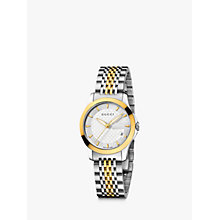 Buy Gucci Women's G-Timeless Dial Two Tone Steel Bracelet Watch Online at johnlewis.com