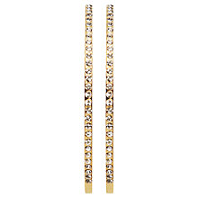 Buy Dyrberg/Kern Quinn Slim Swarovski Crystal Hoop Earrings Online at johnlewis.com