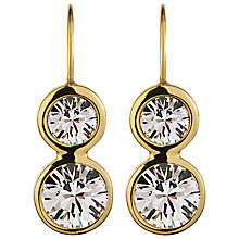 Buy Dyrberg/Kern Raelene Double Crystal Drop Earrings Online at johnlewis.com
