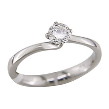 Buy EWA Traditional Solitaire Platinum Diamond Ring Online at johnlewis.com