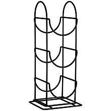 Buy John Lewis 3 Bottle Wine Rack, Black Online at johnlewis.com