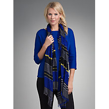 Buy Betty Barclay Striped Scarf, Black/Blue Online at johnlewis.com