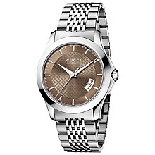 Buy Gucci YA126412 G-Timeless Men's Steel Bracelet Strap Watch Online at johnlewis.com