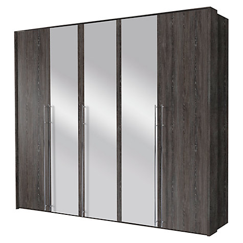 Buy John Lewis Vier Hinged Wardrobes, Mirror, 2.5m Online at johnlewis.com