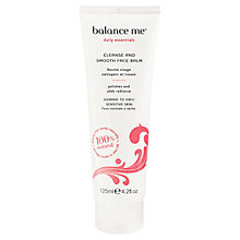 Buy Balance Me Cleanse and Smooth Face Balm, 125ml Online at johnlewis.com