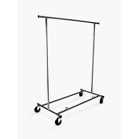 Buy John Lewis Chrome Collapsible Clothes Rail Online at johnlewis.com