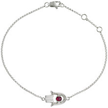 Buy London Road 9ct White Gold Hand Of Fatima Bracelet Online at johnlewis.com