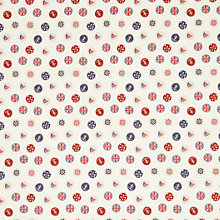 Buy John Lewis Coastal Buttons PVC Cut Length Tablecloth, Multi Online at johnlewis.com