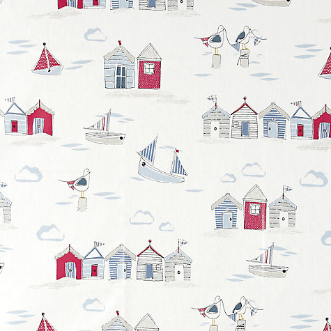 Buy John Lewis Coastal Scene PVC Tablecloth Fabric, Blue Online at johnlewis.com