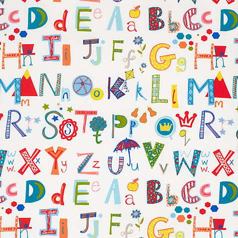 Buy John Lewis Alphabet PVC Tablecloth Fabric, Multi Online at johnlewis.com