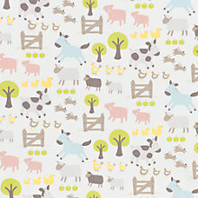 Buy John Lewis Farmyard PVC Tablecloth Fabric, Multi Online at johnlewis.com