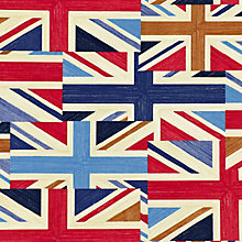 Buy John Lewis Patch Union Jack PVC Tablecloth Fabric, Blue / Red Online at johnlewis.com
