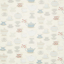 Buy John Lewis Tea Cups PVC Tablecloth Fabric, Duck Egg Online at johnlewis.com