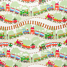 Buy John Lewis Train Tracks PVC Tablecloth Fabric, Multi Online at johnlewis.com