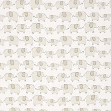 Buy John Lewis Eli Elephant Fabric, Grey Online at johnlewis.com