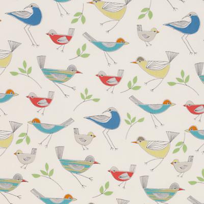 little home at John Lewis Stick Birds Furnishing Fabric, Multi