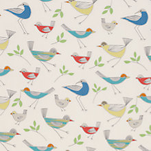 Buy little home at John Lewis Stick Birds Furnishing Fabric, Multi Online at johnlewis.com
