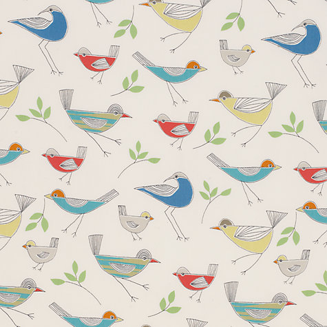 Buy John Lewis Stick Birds Fabric, Multi Online at johnlewis.com