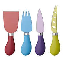 Buy John Lewis Coloured Cheese Knife Set, 4 Piece Online at johnlewis.com