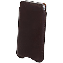 Buy John Lewis Leather Sleeve for iPhone 4/s, Brown Online at johnlewis.com