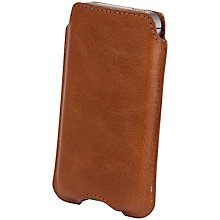 Buy John Lewis Leather Sleeve for iPhone 4/s, Tan Online at johnlewis.com