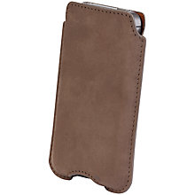 Buy John Lewis Leather Sleeve for iPhone 4/s, Grey Online at johnlewis.com