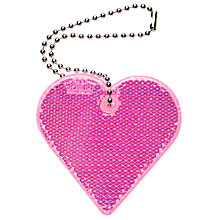 Buy Heart Reflector Tag, Pink Online at johnlewis.com