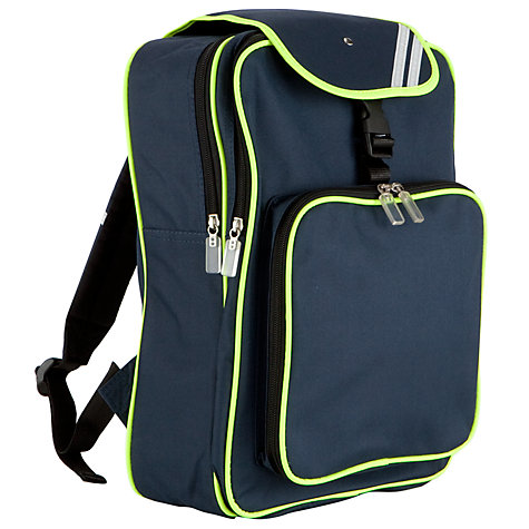 Buy Junior Reflective Backpack, Navy Online at johnlewis.com