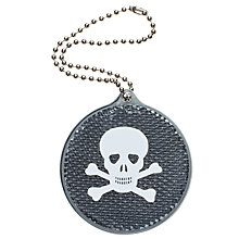 Buy Skull Reflector Tag, Black Online at johnlewis.com